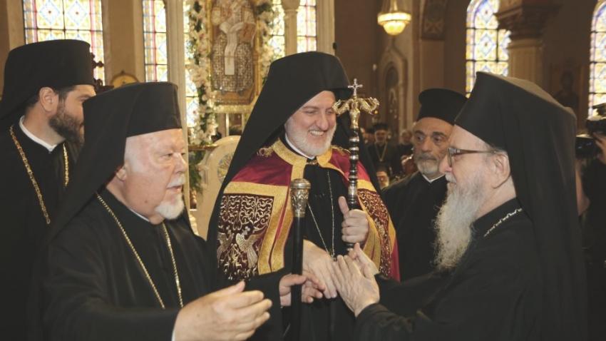 Η πρώτη λειτουργία <br> του Αρχιεπισκόπου <br> Αμερικής Ελπιδοφόρου
