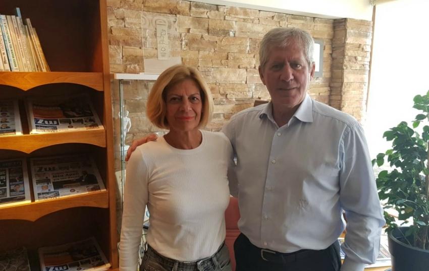 Η Ελισσάβετ Μαυρεπή <br> μαζί με τον <br> Σπύρο Λιβαθινό
